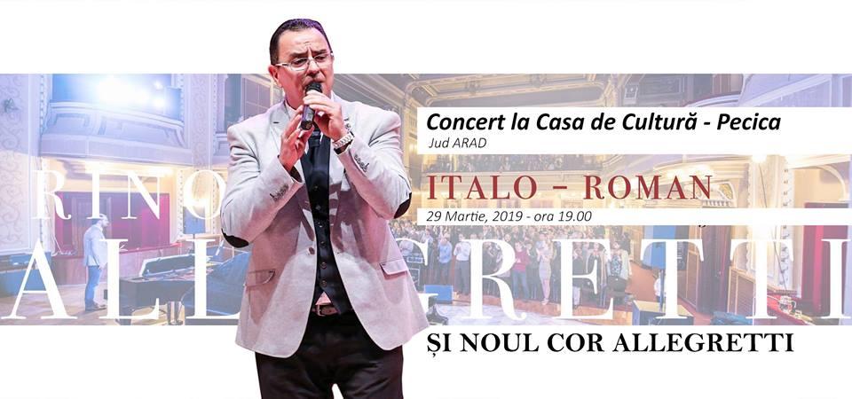 Concert de muzică italo-română la Casa de Cultură