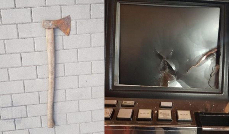 """Un pecican a distrus cu toporul """"păcănelele"""""""
