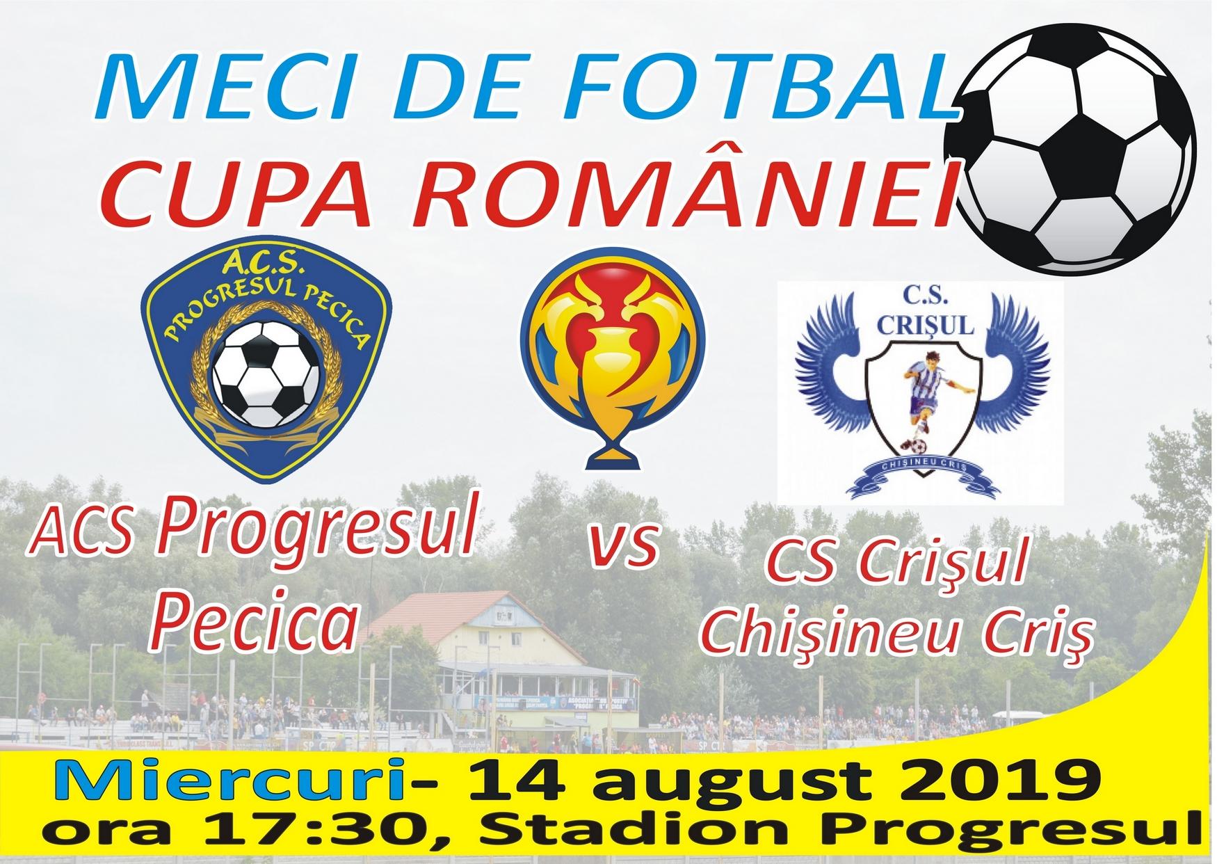 Meci de Cupa României, miercuri în Pădurice