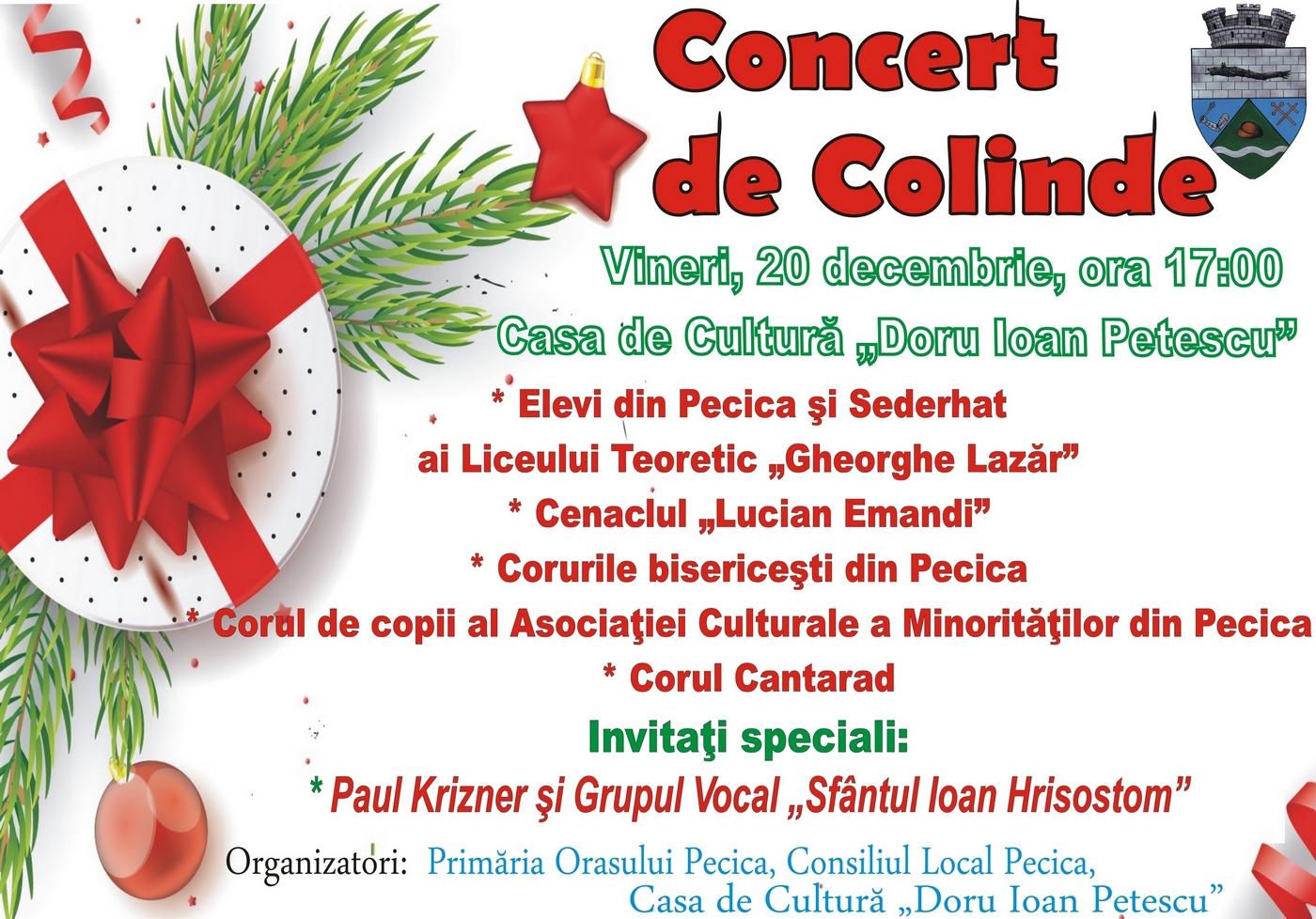 Astăzi are loc concertul de colinde