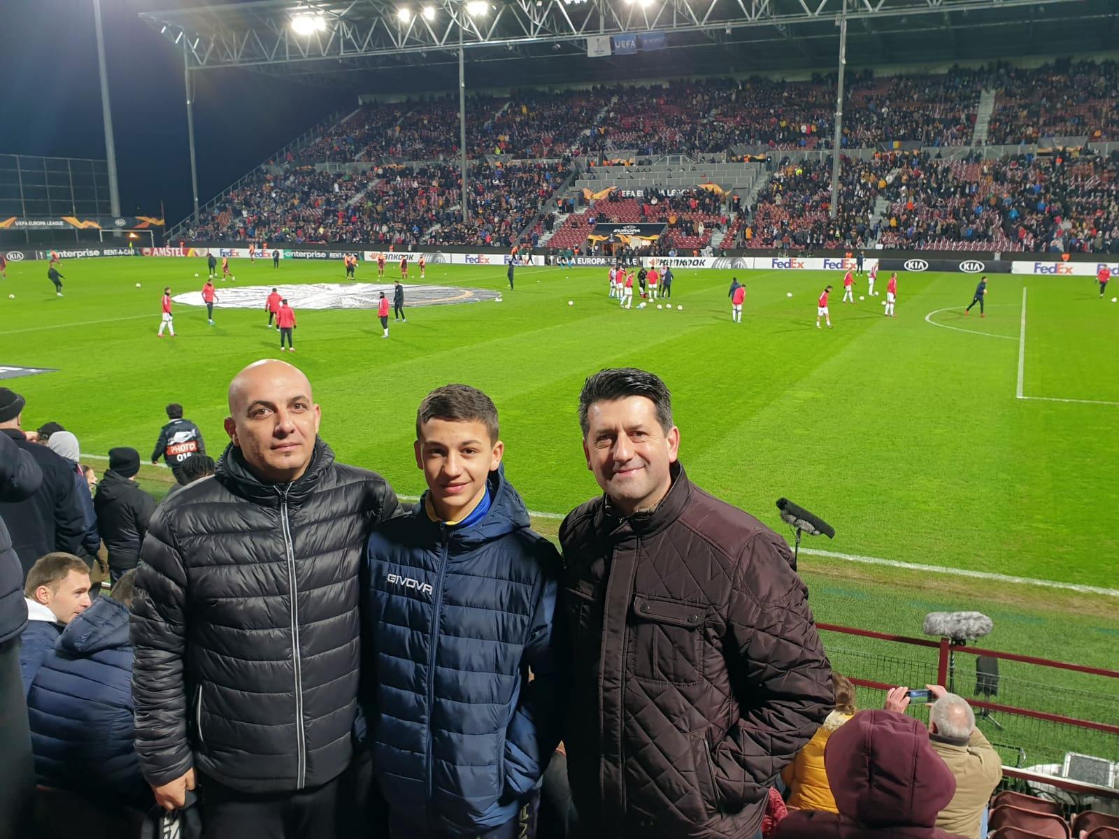 Spectatori pecicani la meciul CFR Cluj – Sevilla