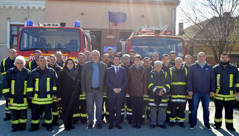 Donația companiei Zollern pentru pompierii voluntari pecicani