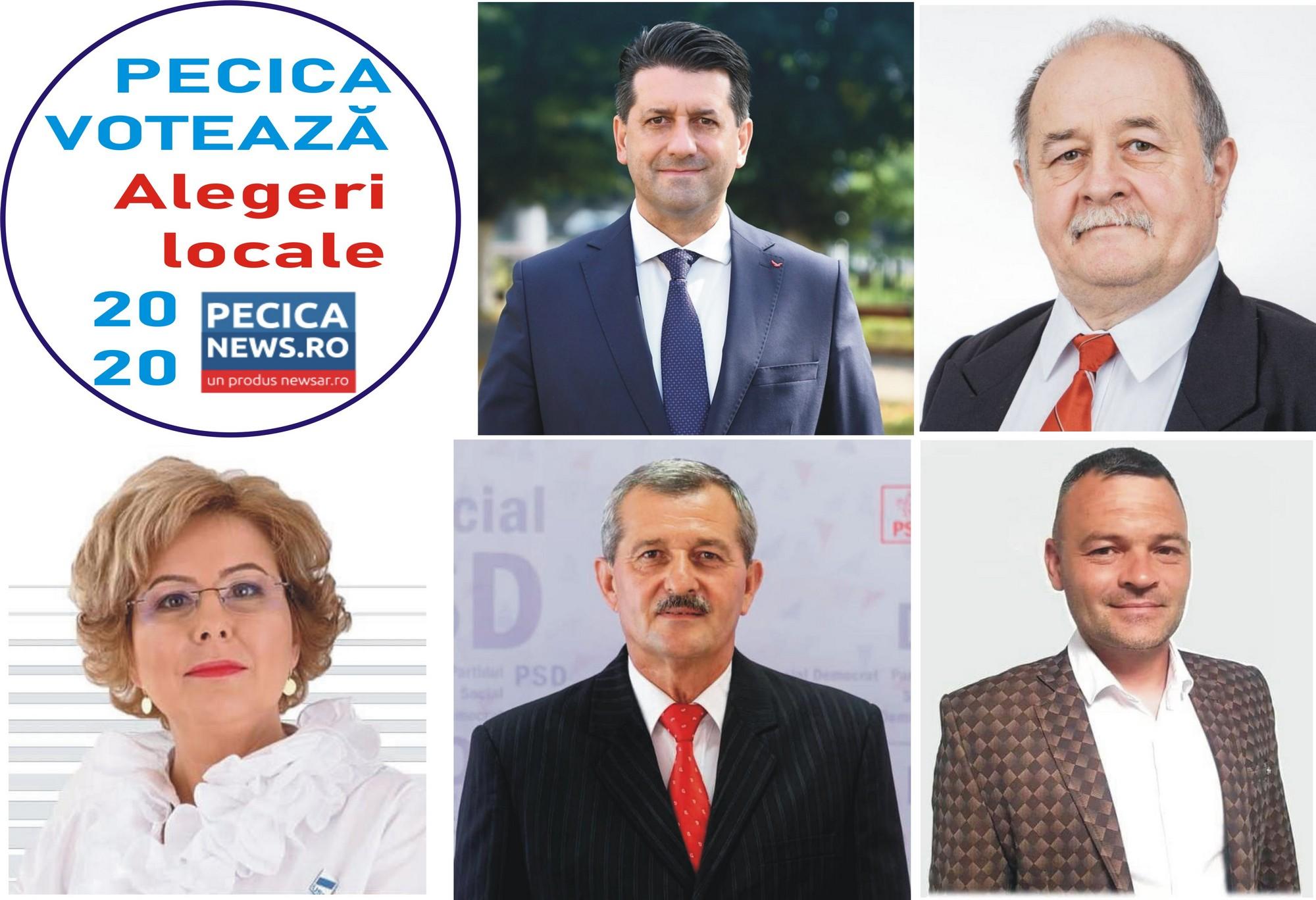 PECICA VOTEAZĂ: Proiectele candidaților pentru funcția de primar