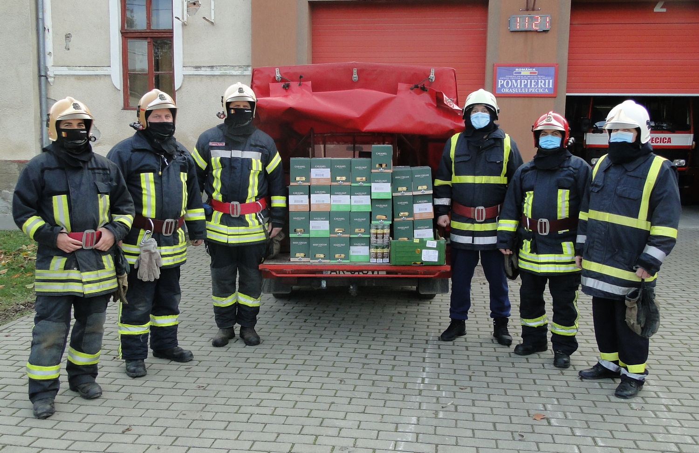 Sprijin pentru pompierii voluntari pecicani