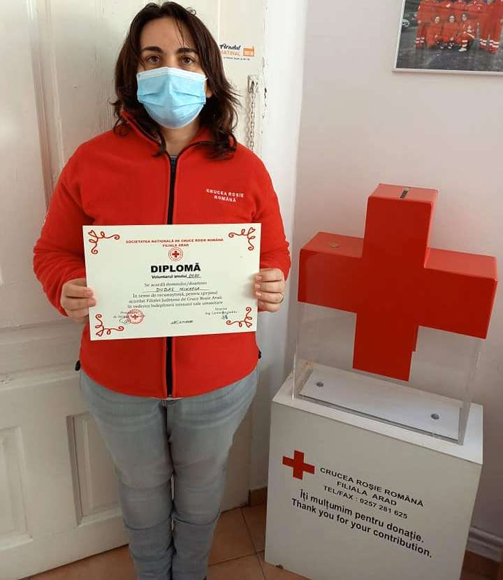 Voluntarul Anului la Crucea Roşie este din Pecica