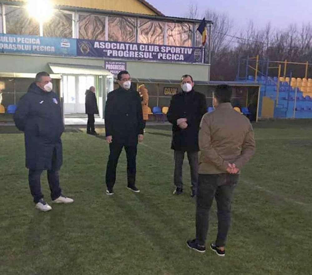 Conducerea Federației Române de Fotbal, la Pecica