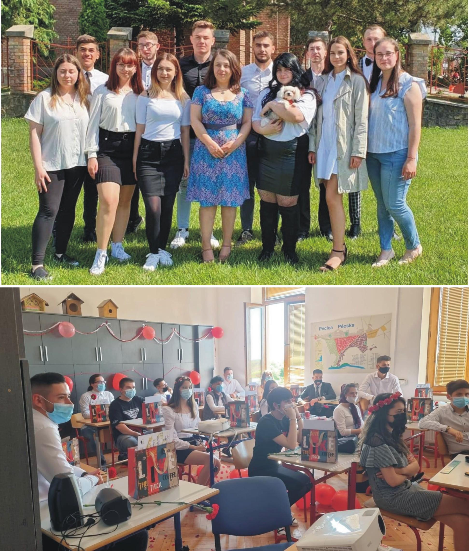 Festivitate în cerc restrâns, pentru absolvenții de liceu pecicani (GALERIE FOTO)