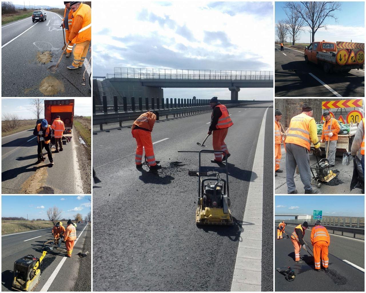 Direcţia de Drumuri a anunţat reparea sutelor de gropi apărute în asfalt