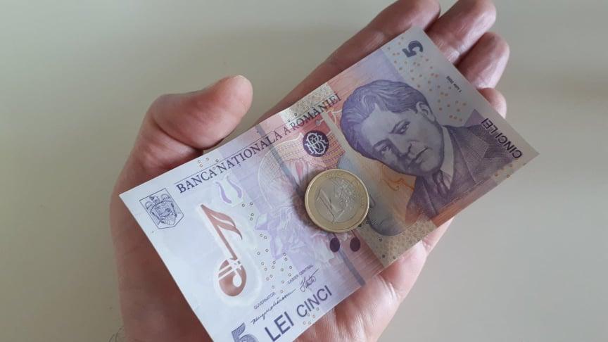 Moneda românească se PRĂBUȘEȘTE! 5 lei pentru 1 euro